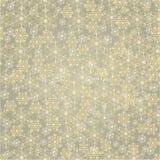 Seamless texture golden snowflakes vector Royalty Free Stock Photo