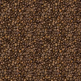 Seamless texture with grains of roasted coffee Royalty Free Stock Images