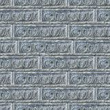 Seamless Texture of Gray Decorative Bricks Wall. Stock Photos