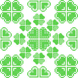 Seamless texture with green abstract patterns Stock Images