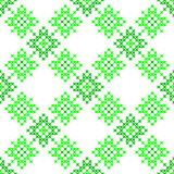 Seamless texture with green abstract patterns. For tablecloth.Embroidery.Cross stitch Royalty Free Stock Photos