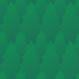Seamless texture with green fir trees in a row. Vector pattern for wrapping paper, wallpaper, fabric and your design Royalty Free Stock Image