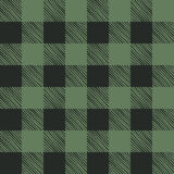 Seamless texture of green plaid Stock Photos