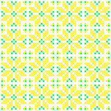 Seamless texture with green and yellow abstract flowers. Seamless texture with green and yellow abstract patterns for tablecloth.Embroidery.Cross stitch Stock Photo