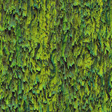 Seamless texture hanging down worn-out ripped rags cloth or paper. Seamless texture hanging down worn-out ripped rags green cloth or paper. Pattern of moss tree royalty free stock photo