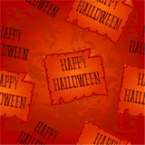 Seamless texture  Happy Halloween inscription from the bones vector Royalty Free Stock Photography