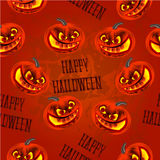 Seamless texture Happy Halloween with pumpkins vector Stock Images