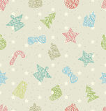 Seamless Texture for Happy New Year Royalty Free Stock Photos