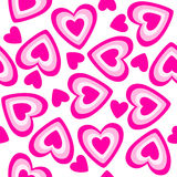 Seamless texture with heart Stock Image
