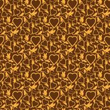 Seamless texture with heart Royalty Free Stock Photo