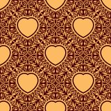 Seamless texture with heart Stock Photography