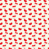 Seamless texture with hearts. Seamless texture of red for Valentine's Day Vector Illustration