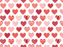 Seamless texture with hearts. Background on Valentine's Day stock illustration