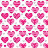 Seamless texture with hearts Royalty Free Stock Photos