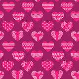 Seamless texture with hearts Stock Image