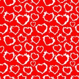 seamless texture of hearts - blots Stock Photo
