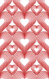 Seamless texture with hearts metamorphosis Stock Photos