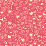 Seamless texture with hearts. valentine's day Royalty Free Stock Image