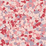 Seamless texture of hearts on Valentine's day. Use as a pattern fill, backdrop, seamless texture Stock Photo