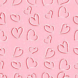 Seamless texture with hearts. Seamless texture for your design Stock Photos