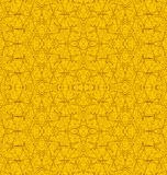 Seamless texture with hole pattern amber. Abstract geometric seamless background single color. Regular hole pattern yellow orange stock illustration