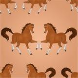 Seamless texture horse running vector Stock Photography