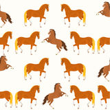 Seamless texture horses vector Stock Photo