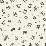 Seamless texture with icons - children Royalty Free Stock Photo
