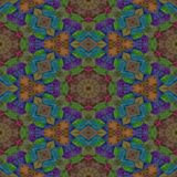 Seamless texture kaleidoscope with dark color, brown and purple