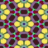 Seamless texture kaleidoscope pattern Stock Images
