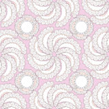 Seamless texture lacy circles on lilac background Stock Images