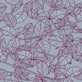 Seamless texture with leafs Royalty Free Stock Images