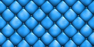 Seamless texture leather upholstery sofa blue. 3D illustration Stock Images