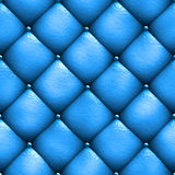 Seamless texture leather upholstery sofa blue. 3D illustration Stock Photo
