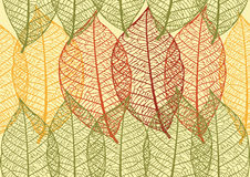 Seamless texture with leaves royalty free illustration