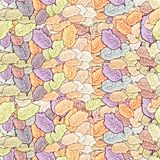 Seamless texture with leaves. Royalty Free Stock Photos