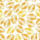 Seamless texture of leaves Stock Photography