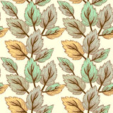 Seamless texture with leaves Stock Photography