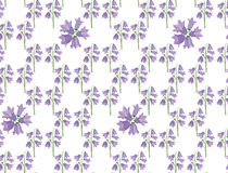 Seamless texture with lilac bluebells Royalty Free Stock Photography
