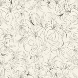 Seamless texture of lilies Stock Images
