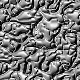 Seamless texture of liquid metal. Colorful psychedelic background made of interweaving curved shapes. Illustration. Stock Image