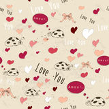 Seamless texture with love elements. Stock Photos