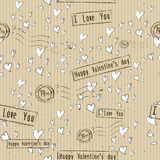 Seamless texture with love elements. Stock Images