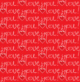 Seamless texture love you Stock Photo