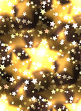 Seamless texture with a luxurious gold stars and bokeh. Royalty Free Stock Image