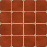 Seamless texture made of red square tiles Stock Image