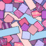 Seamless texture made of snippets. Seamless texture made of colorful patches with stitches Royalty Free Stock Photography