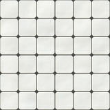 Seamless texture made of white square tiles Stock Images