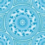 Seamless texture with mandalas royalty free illustration