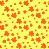 Seamless texture maple leaf on light background Stock Photo
